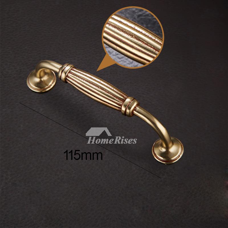 2 7 4 5 5 7 Inch Polished Brass Vintage Drawer Pulls