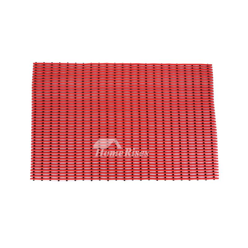 Designer Bath Mats Pvc Red Blue Square Non Slip Modern Cheap