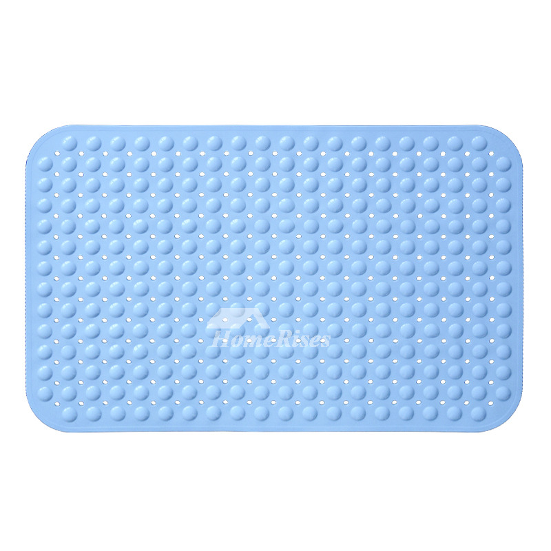 Pink Green Blue Suction Cup Non Slip Bath Mat Resin
