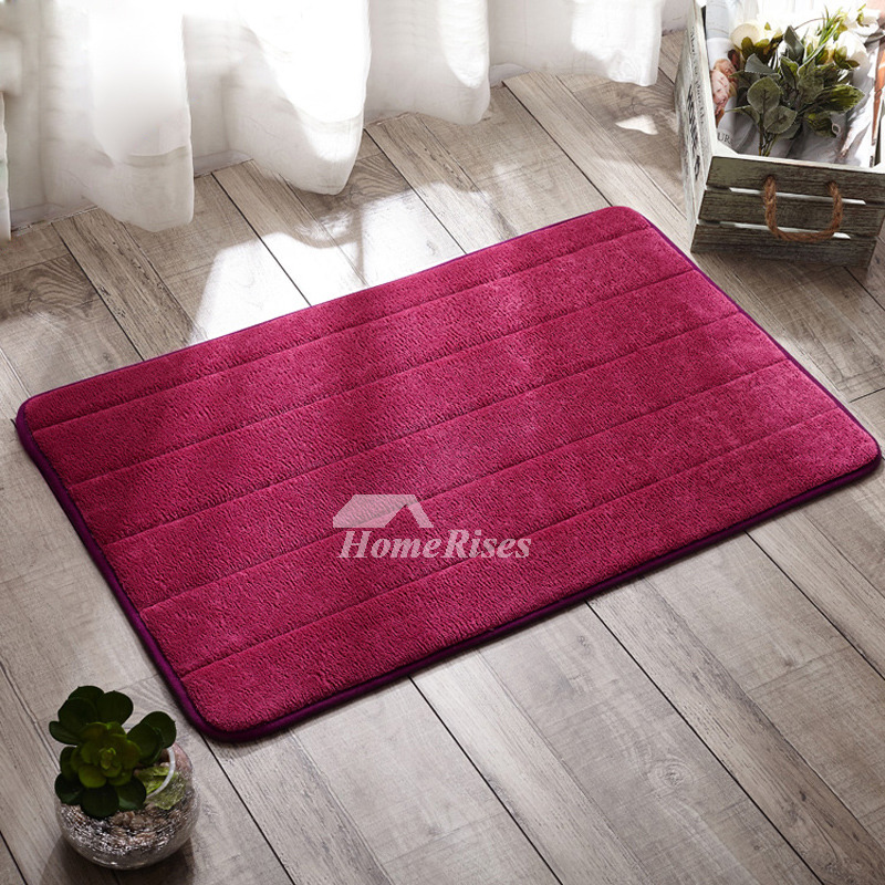 Toilet Bath Mat Hot Pink/Teal/Brown/Gray Polyester Square Best