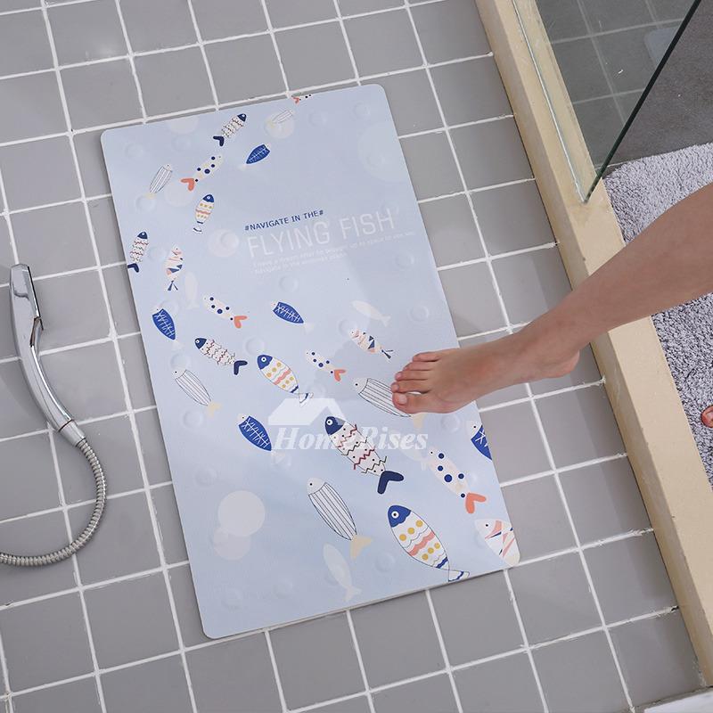 Bath Spa Mat Square Pu Floor Non Slip Suction Cup Modern Cheap