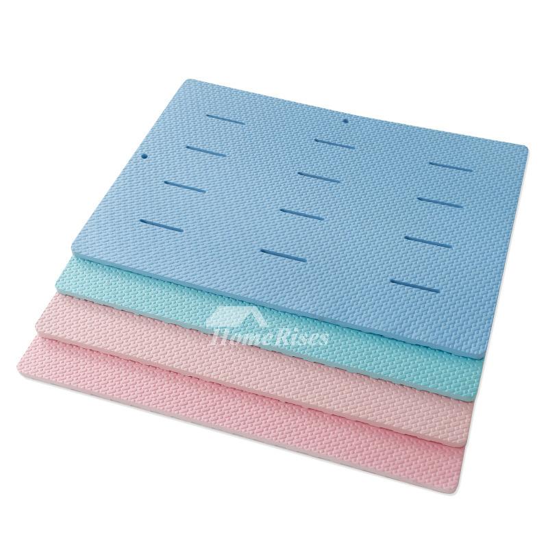 Memory Foam Bath Mat Blue Pink Light Blue Light Pink