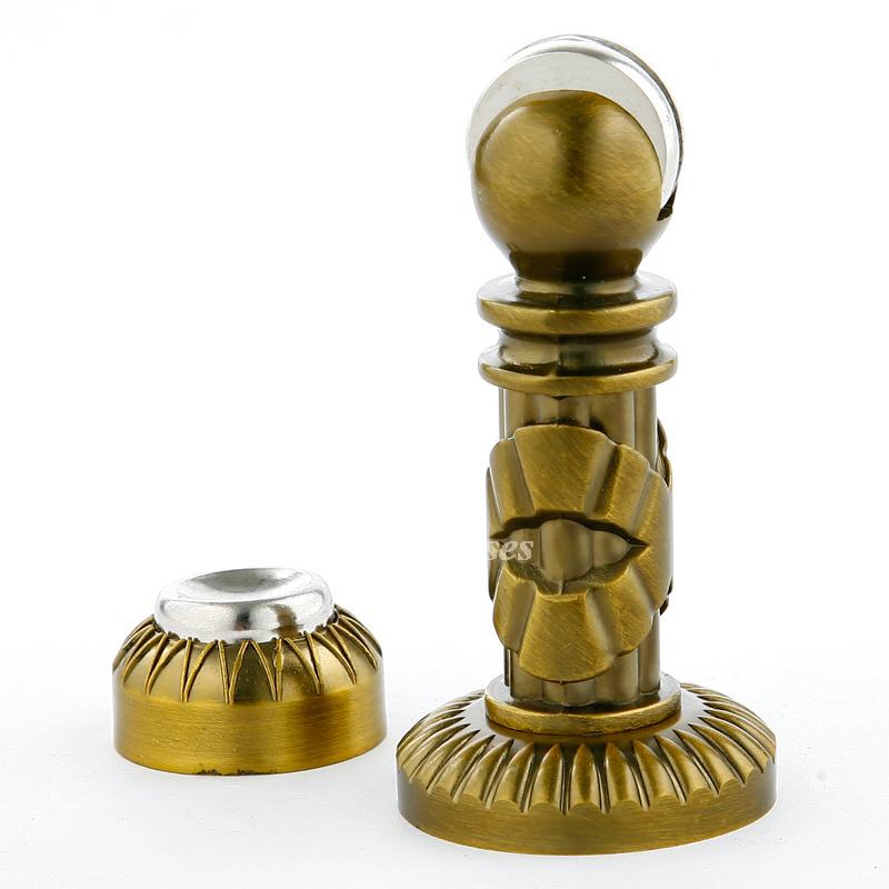 - Vintage Door Stops Carved Zinc Alloy Gold Magnetic Silent Antique