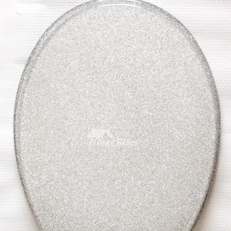 Glitter Toilet Seat Resin Black Silver Undermount