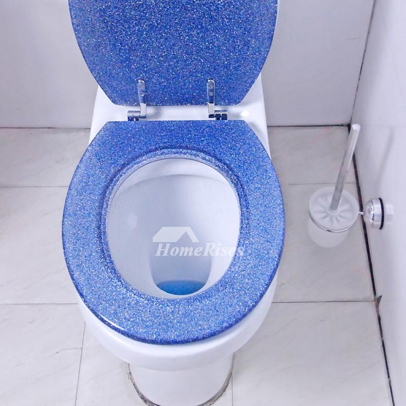 Admirable Designer Toilet Seats Undermount Blue Glitter Resin Unique Best Pdpeps Interior Chair Design Pdpepsorg