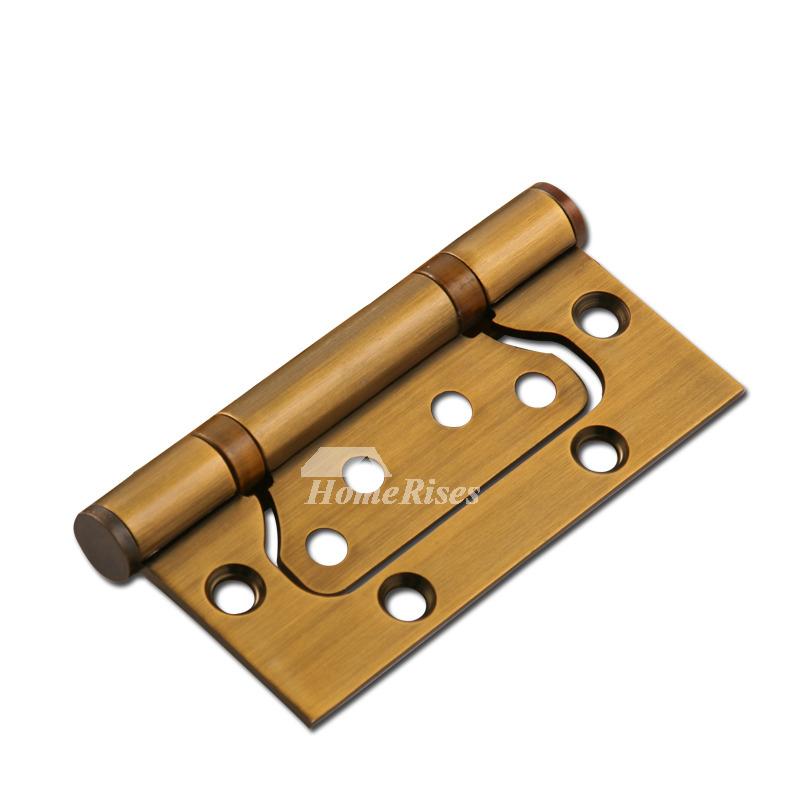 Hinges On Door Antique Brass Brushed Gold 2 Pcs Fancy Design