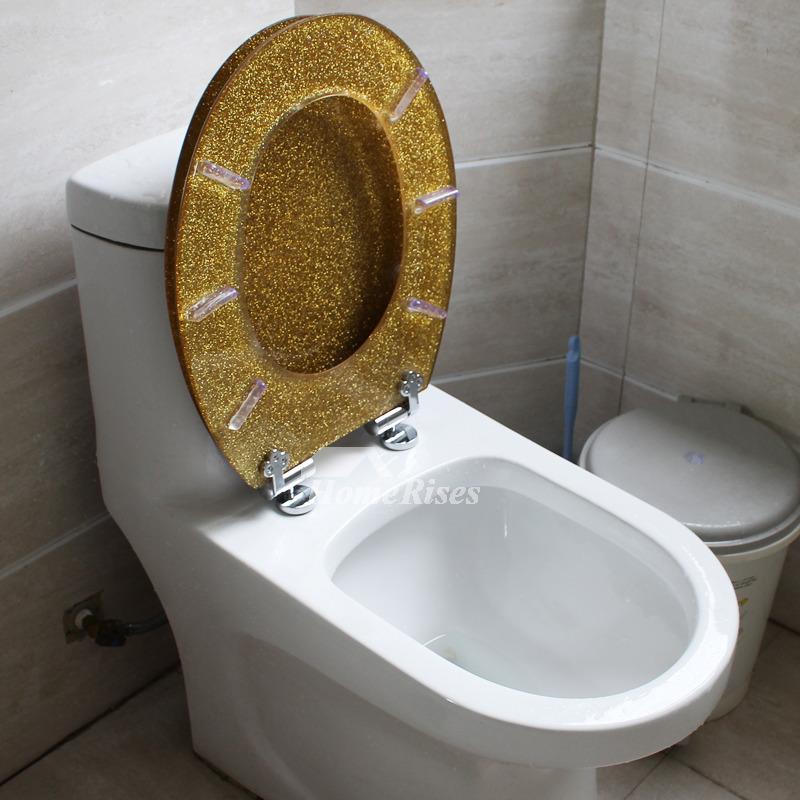 gold glitter toilet seat. Gold Toilet Seat Glitter Resin Decorative Novelty Fancy Luxury Solid