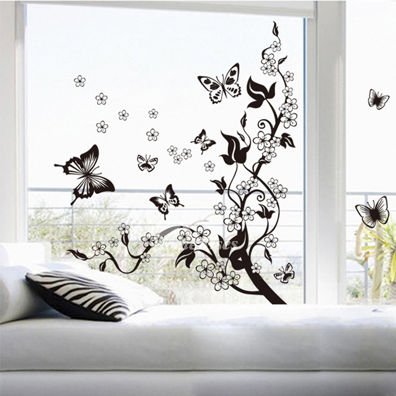 decorative wall stickers for living room butterfly/tree/animal/flower