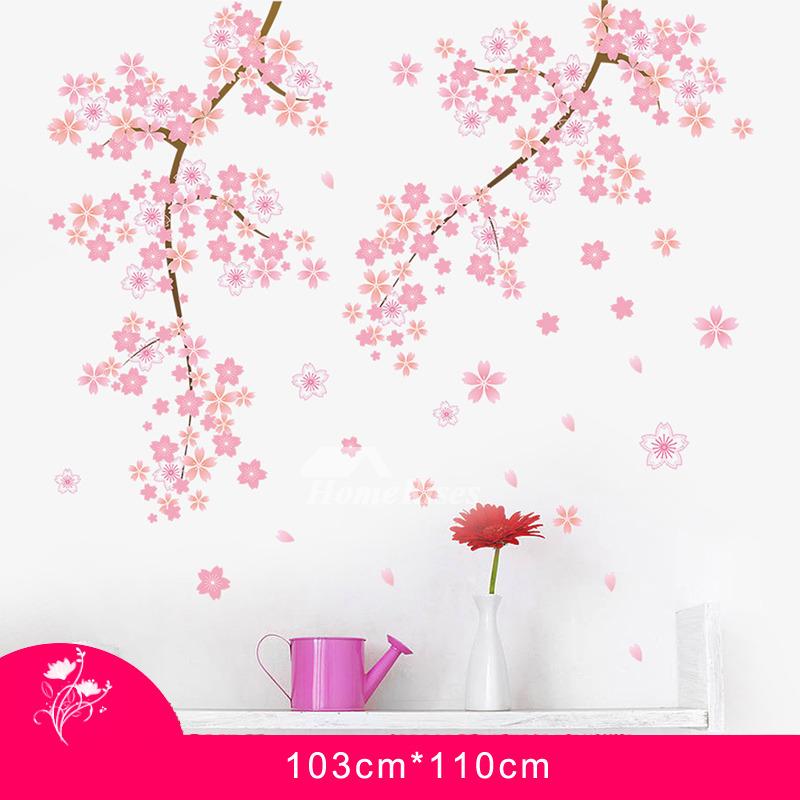 Cherry Blossom Wall Stickers Home Decor Self Adhesive Romantic