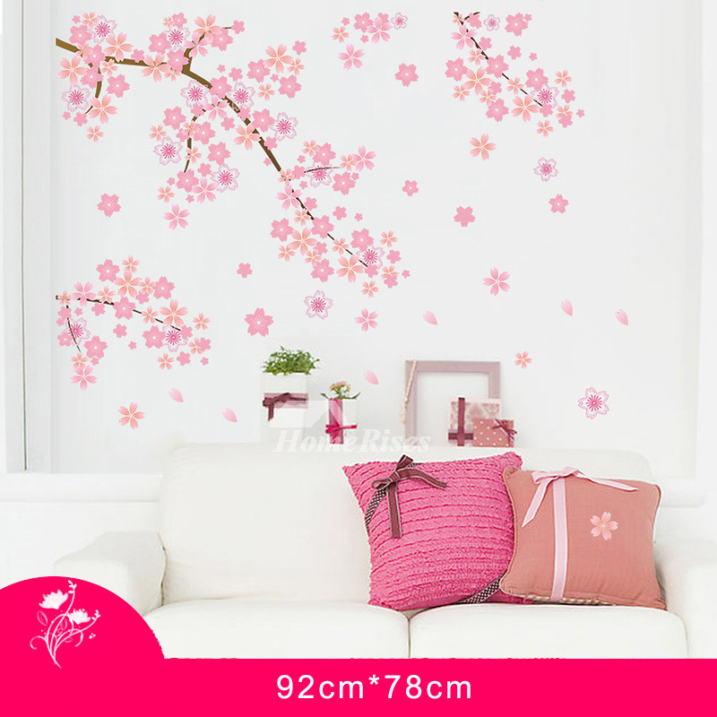 Cherry Blossom Wall Stickers Home Decor Self Adhesive Romantic