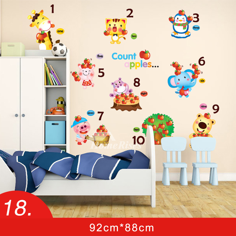 wall sticker design pvc floral/mushroom/animal nursery kids cheap