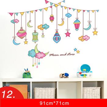 Wall Sticker Design PVC Floral Mushroom Animal Nursery Kids Cheap