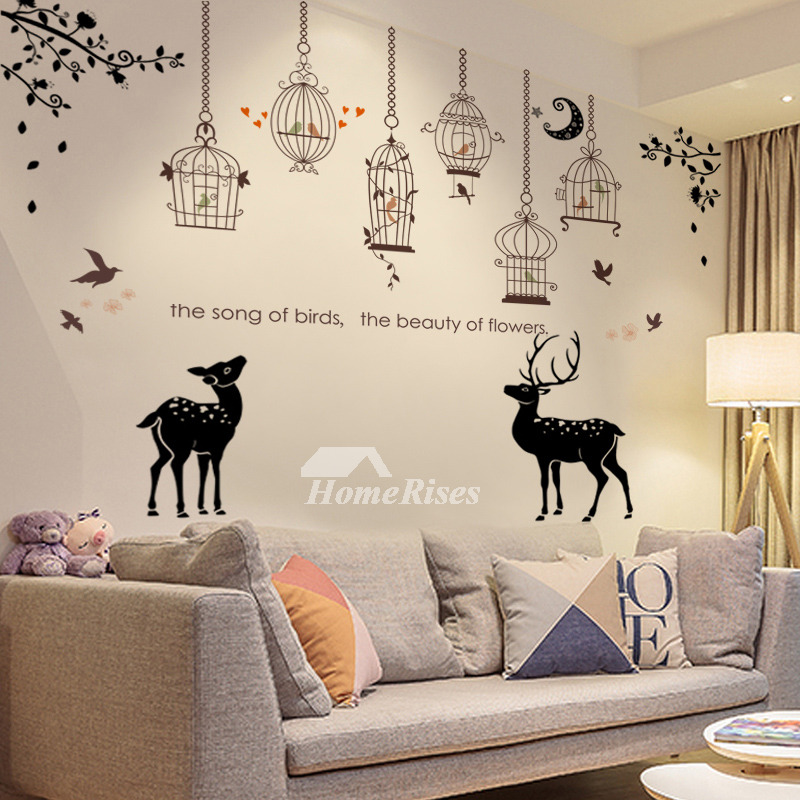 Towel Deer Ship Flower Girls Kitchen Wall Stickers Pvc