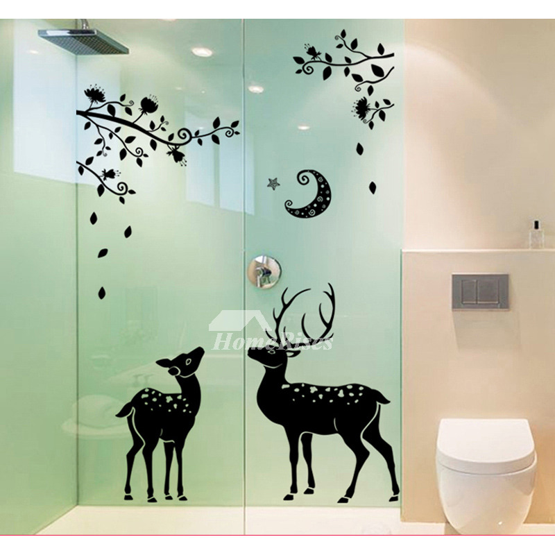 Girls Wall Stickers Animal Deer Furniture Pvc Home Decor