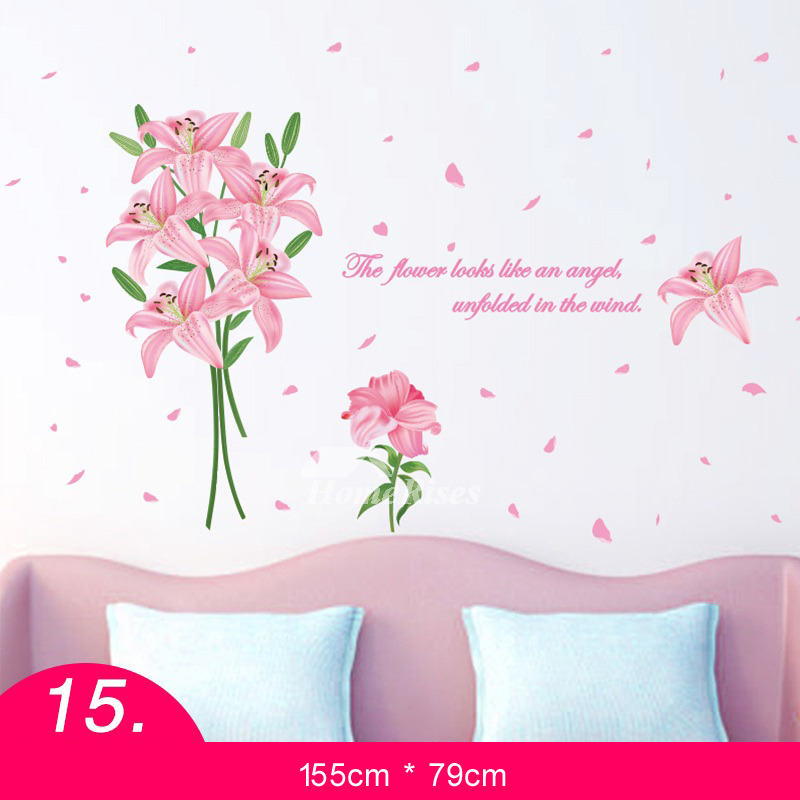 Flower wall stickers grassletter for living room self adhesive home flower wall stickers grassletter for living room self adhesive home decor mightylinksfo
