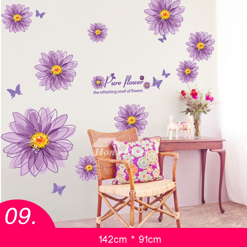 Cheap Wall Stickers Bedroom Purplepink Pvc Home Decor Personalised