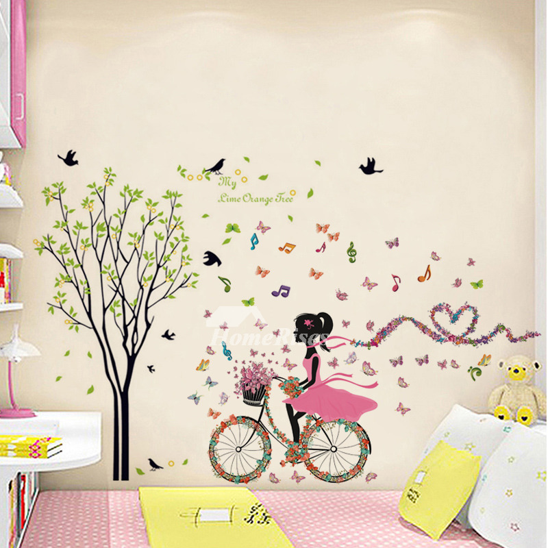 Girls/Music/Letter Bird Wall Stickers PVC Kids Room Home Decor