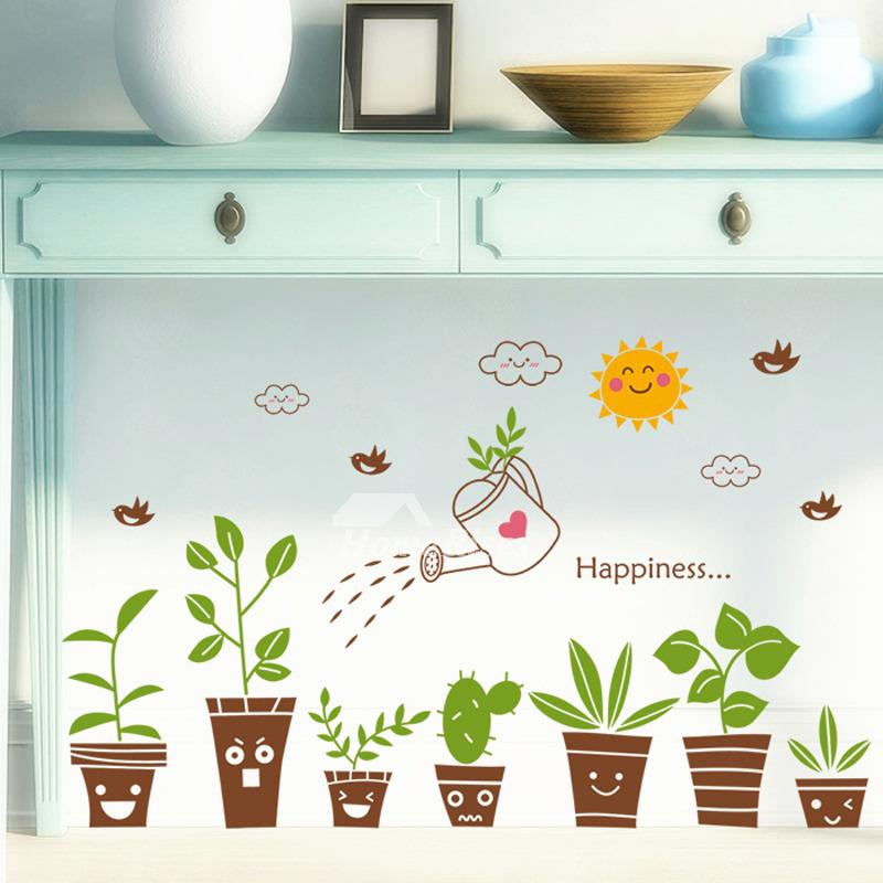 Cheap Wall Stickers Plant Pattern Home Decor PVC Living