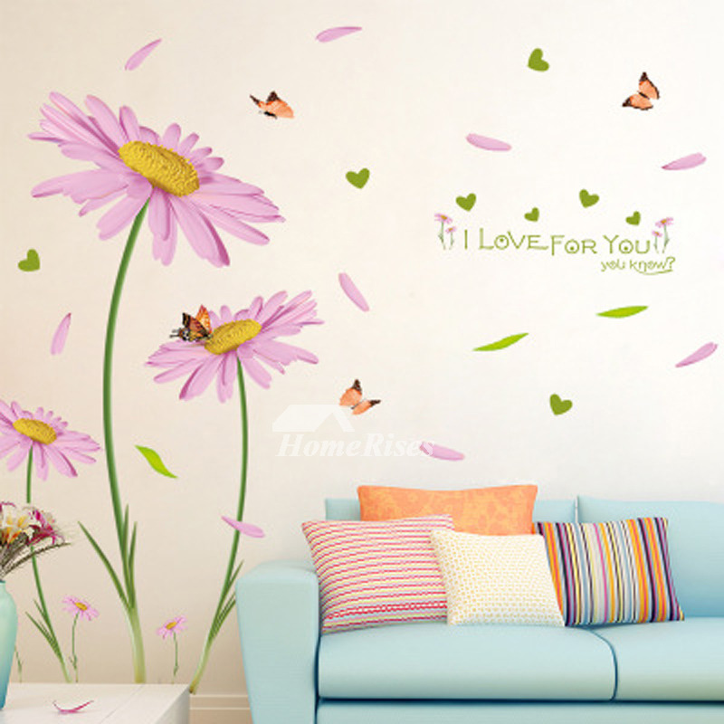 Bedroom Wall Art Stickers Tree/Flower/Plant Self Adhesive Cheap