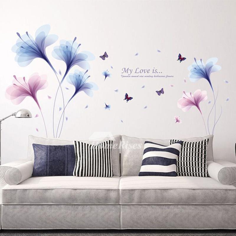 Wall Art Decor Stickers Flower Letter Pattern Pvc Self