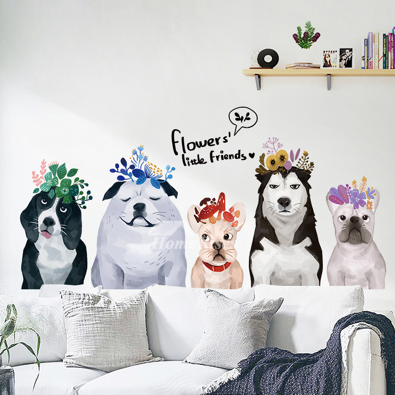 Dog Wall Stickers Pvc Self Adhesive Home Decor Living Room