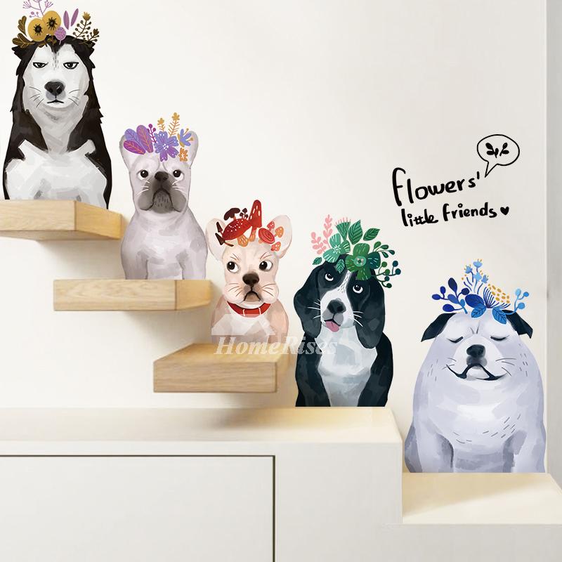 Dog Wall Stickers PVC Self Adhesive Home Decor Living Room