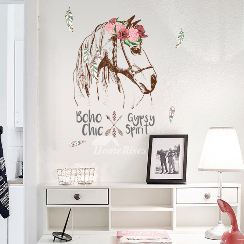 Equine Home Decor: Horse Wall Stickers Patterned PVC Kitchen Home Decor
