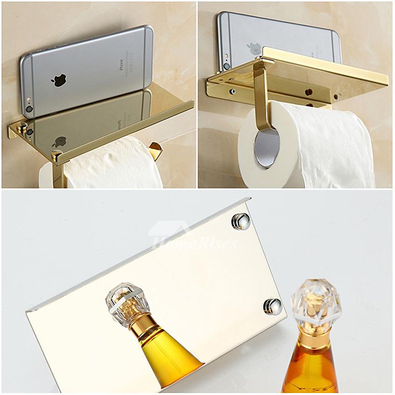 wall mount toilet paper holder bathroom tissue holder with shelf. Black Bedroom Furniture Sets. Home Design Ideas