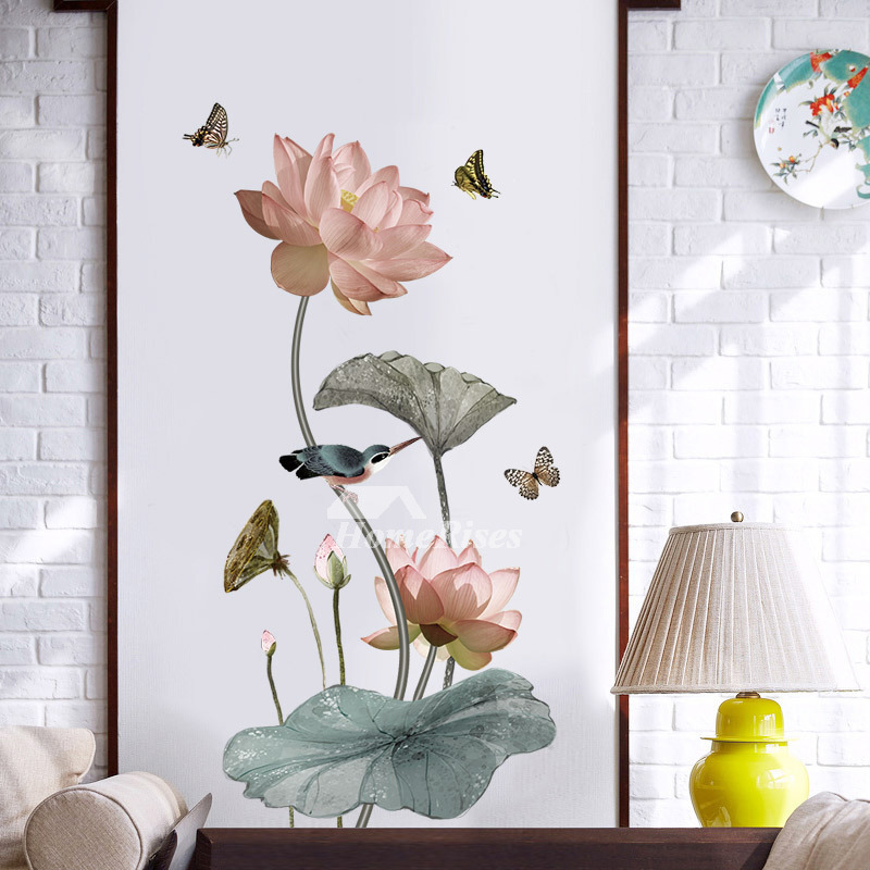 Home Decor Wall Stickers Flower Bird Butterfly Fish Pvc Self Adhesive