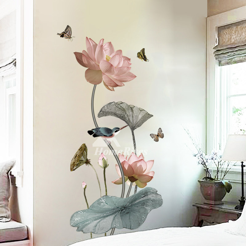 Home Decor Wall Stickers Flower/Bird/Butterfly/Fish PVC Self Adhesive