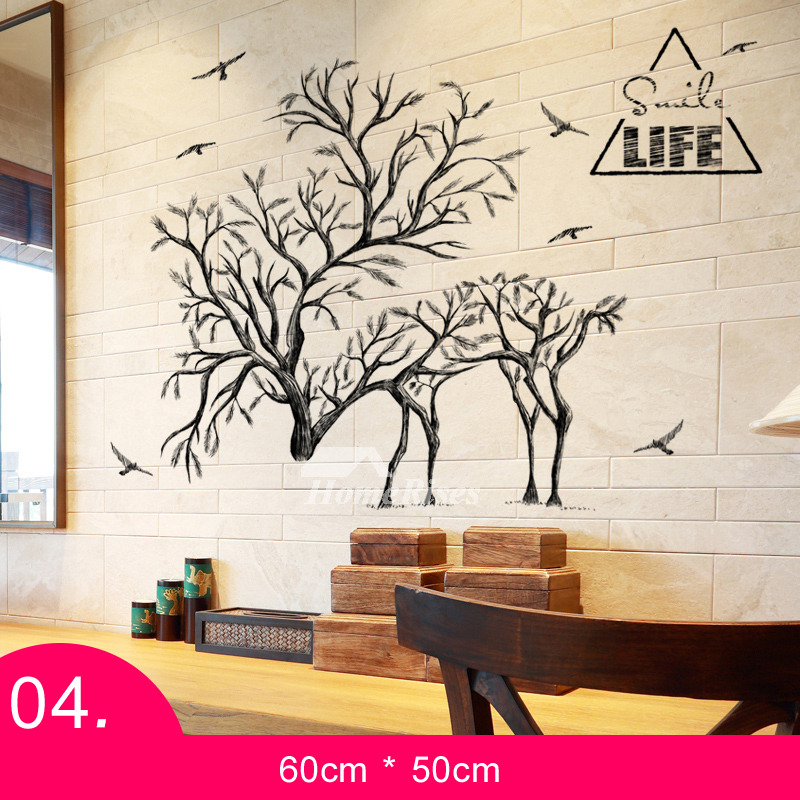 tree wall decals for living room wall stickers for living room animal tree letter patterned 24061