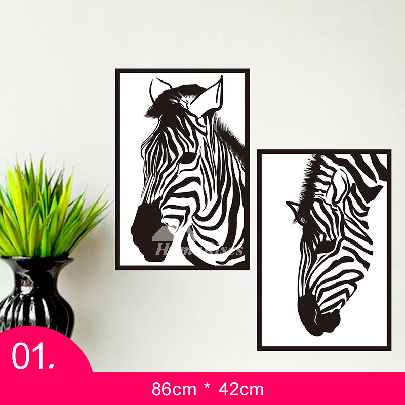 d3cc4e9f0 Wall Stickers For Living Room Animal Tree Letter Patterned Decorative