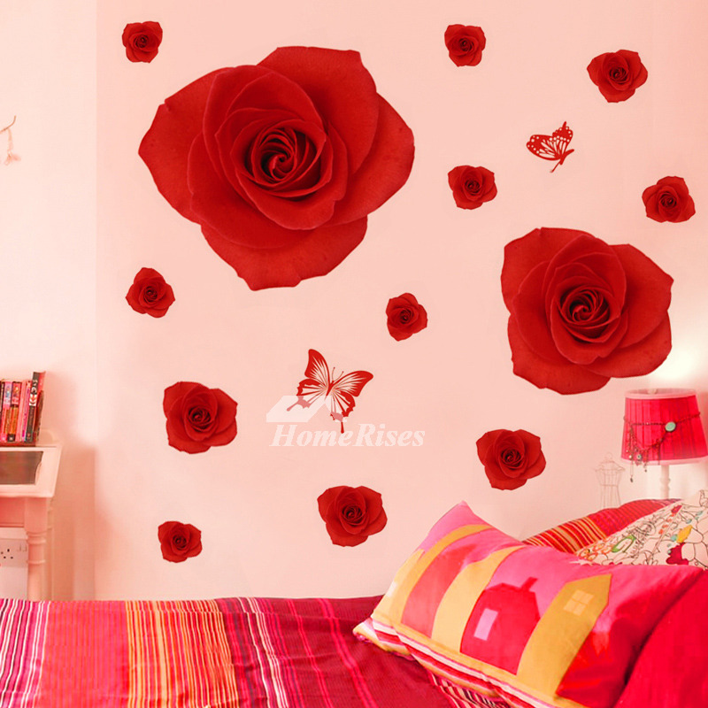 Girls Wall Stickers Flower/Butterfly/Letter PVC Self Adhersive ...