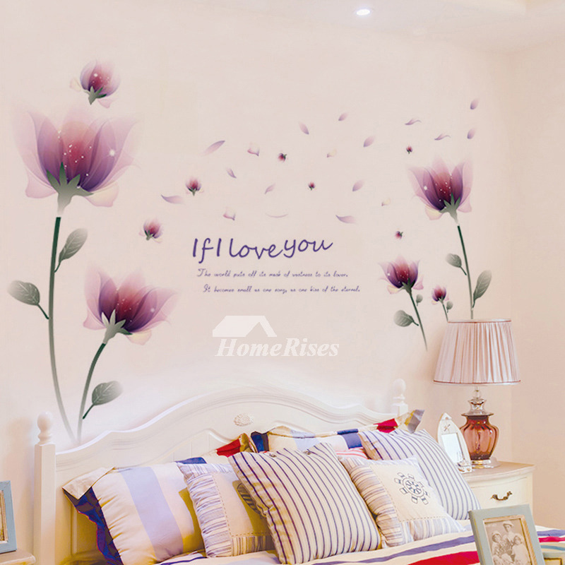 Bedroom Wall Art Stickers Flower Letter Butterfly Self Adhesive