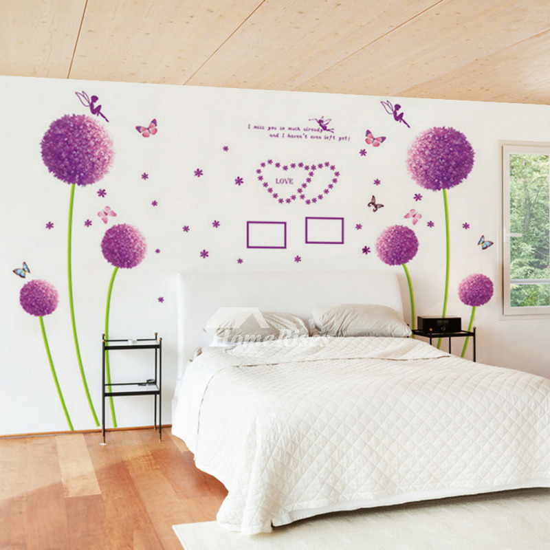 Bedroom Wall Art Stickers Flower/Letter/Butterfly Self Adhesive
