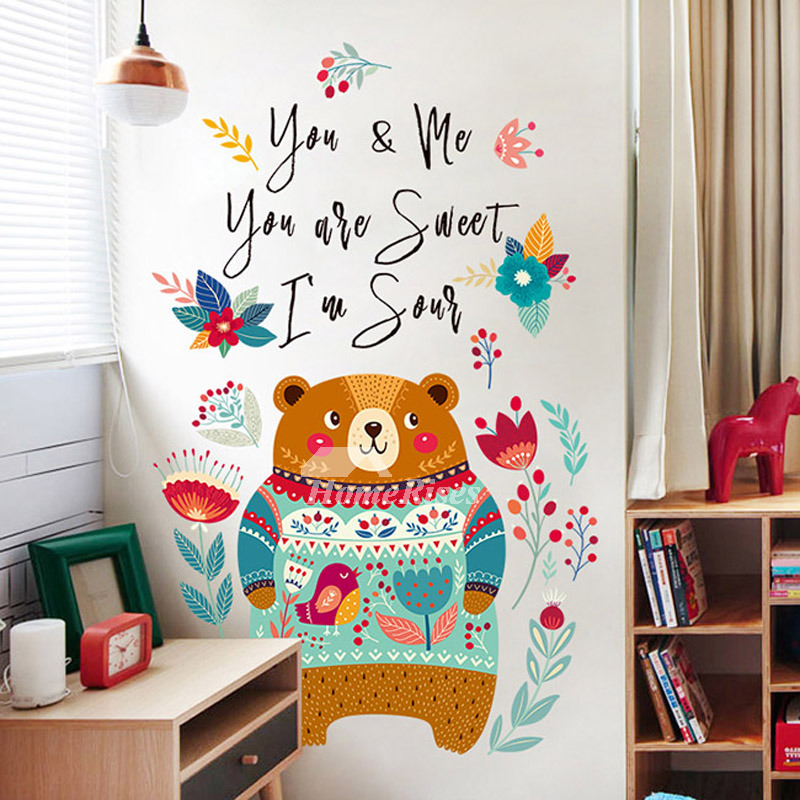 Animal Home Decor: Nursery Wall Stickers Animal/Plant/Letter Home Decor Self