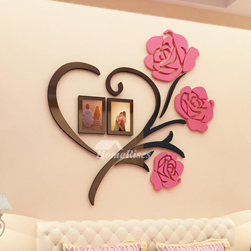 3d wall stickers flower acrylic modern beautiful living room