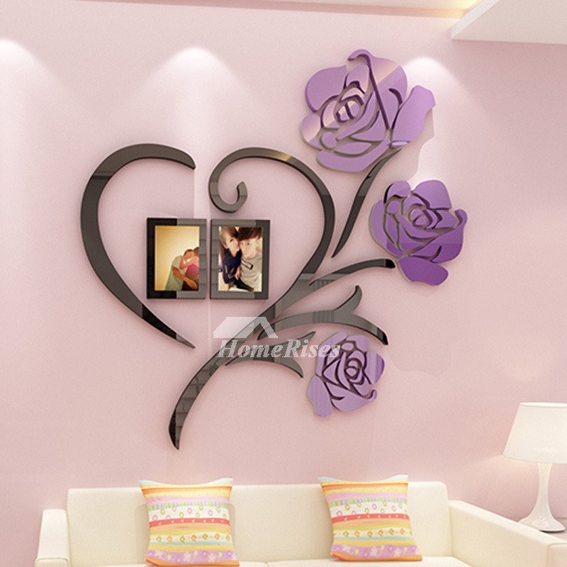 3d Wall Stickers Flower Acrylic Modern, Wall Stickers For Living Room