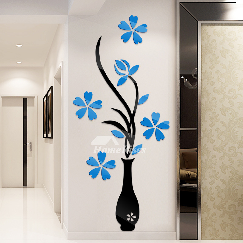Nursery Wall Stickers Flower Patterned Acrylic Home Decor Bedroom