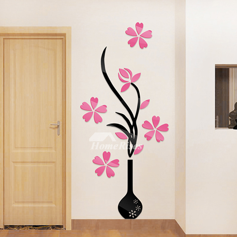 Nursery Wall Stickers Flower Patterned Acrylic Home Decor