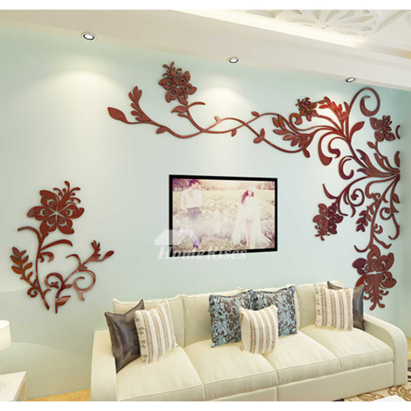beautiful wall mural stickers 3d acrylic home decor living room