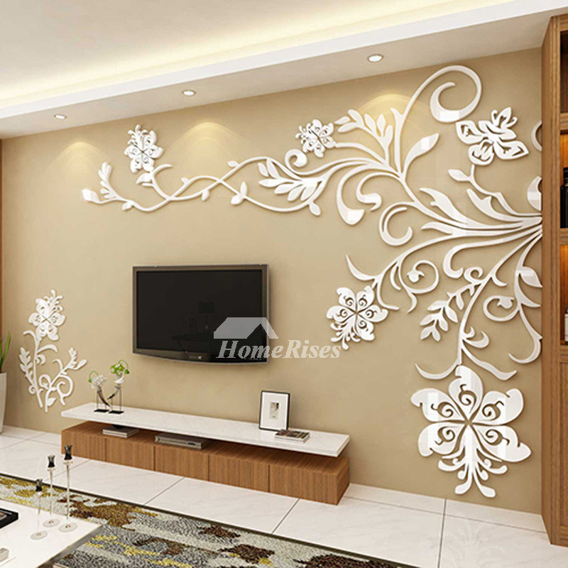 Living room wall decor 3d acrylic modern bedroom large unique for Unusual decorative accessories