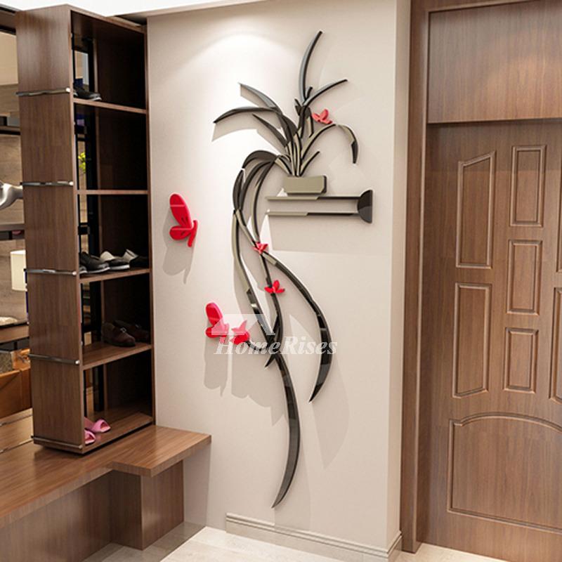 Kitchen Wall Decor Bedroom Acrylic Modern Living Room 3d Black