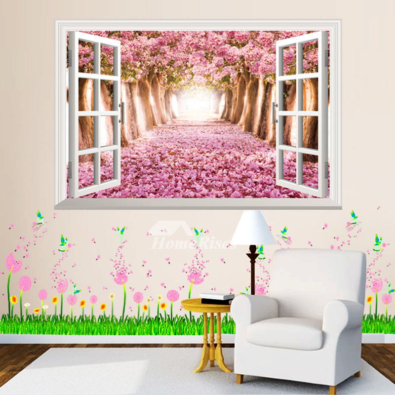 3D Wall Stickers Plant/Flower Pattern Living Room Decorative PVC