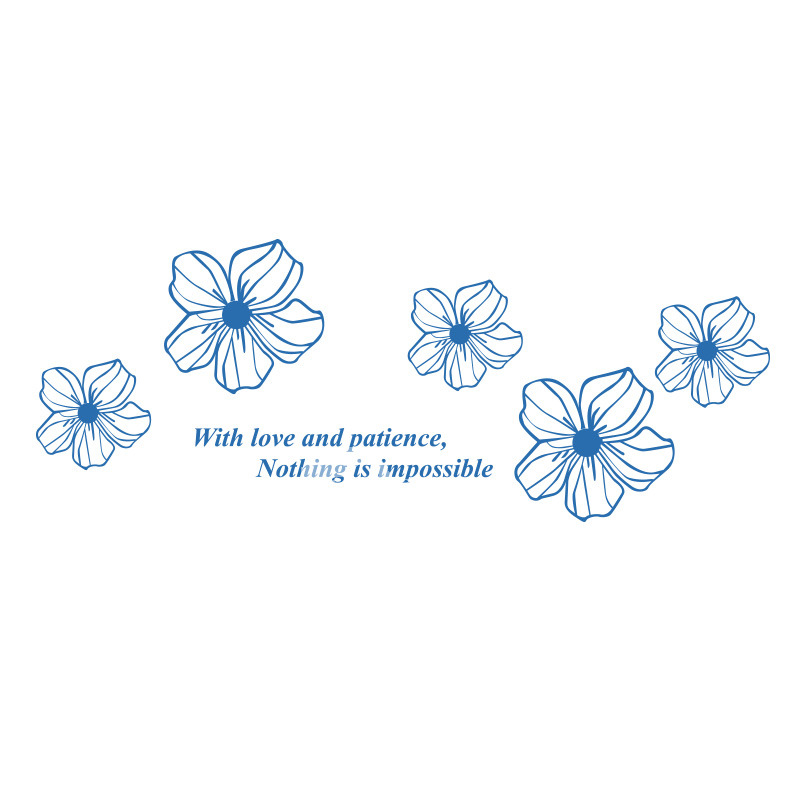 Flower Wall Decals Purple Yellow White Blue Pink Acrylic