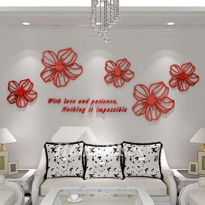 Wall Art Decals Black Red Blue Pink