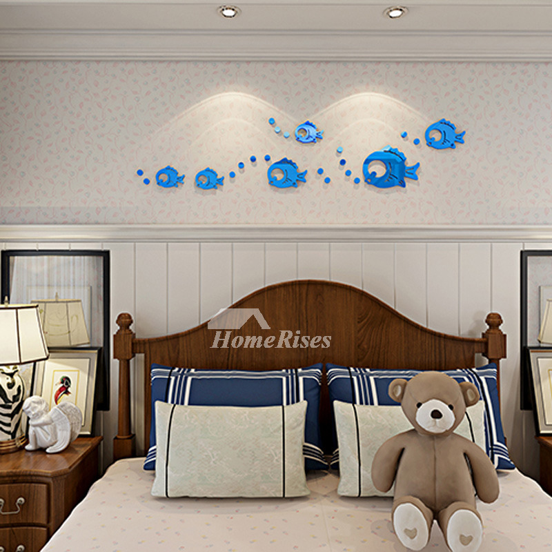 Blue Baby Blue Red Fish Wall Decals Home Decor Bathroom