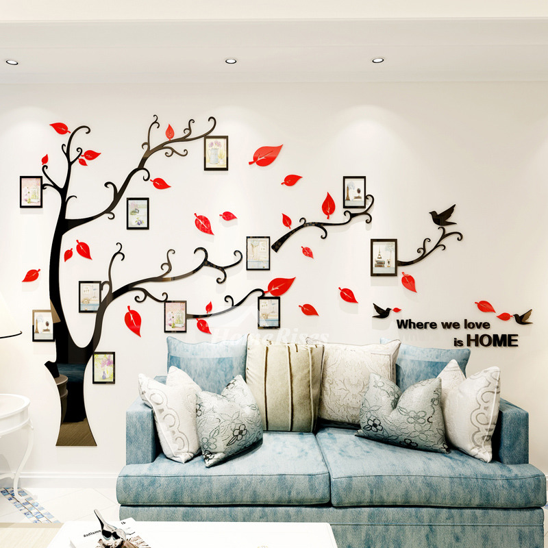 Home Decor Art Tree Wall Sticker Removable Mural Decal: Removable Wall Decals For Bedroom Acrylic Tree Home Decor