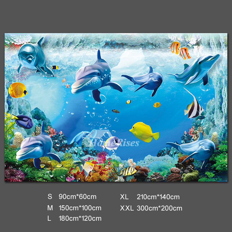 3d Wall Stickers Ocean Decal Shark Decorative Pvc Home Decor