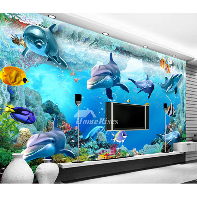 3d Wall Decals Ocean PVC Self Adhesive Home Decor Personalised